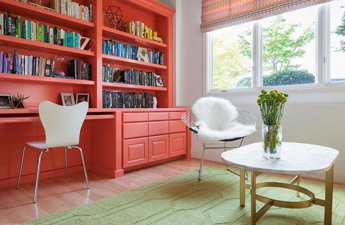 Коралловая мебель