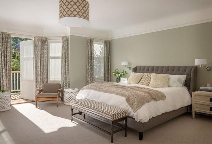 Спальня  оливковом цвете