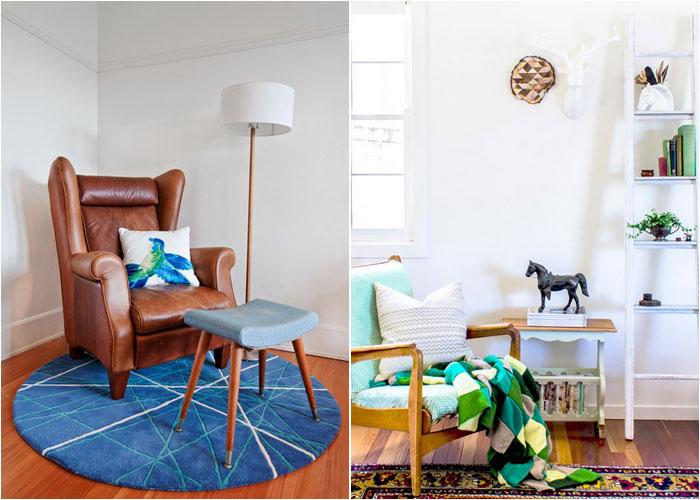Интерьер спальни от Luisa Volpato Interiors и гостиной от Hip Brown Home