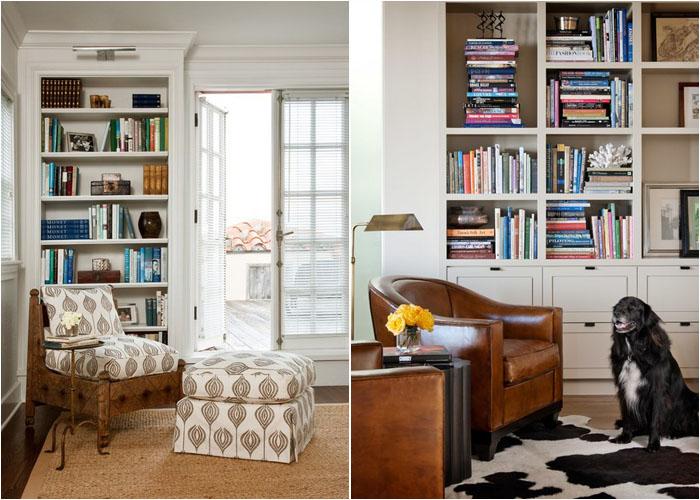 Интерьер домашнего офиса и гостиной