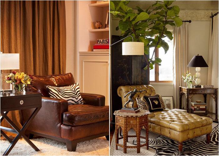 Интерьер гостиной от Garrison Hullinger Interior Design Inc. и спальни от Cecilie Starin Design Inc.