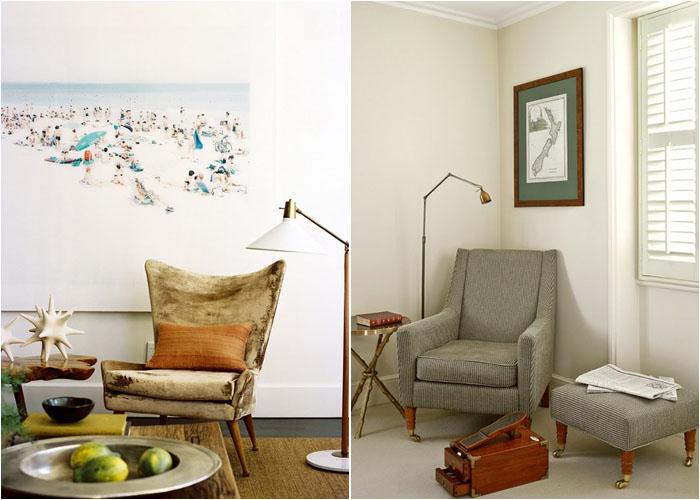 Интерьер гостиной от Brad Ford ID и гардеробной от Clare Gaskin