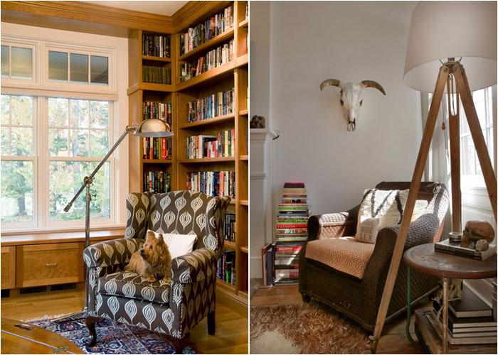 Уголок для чтения в гостиной