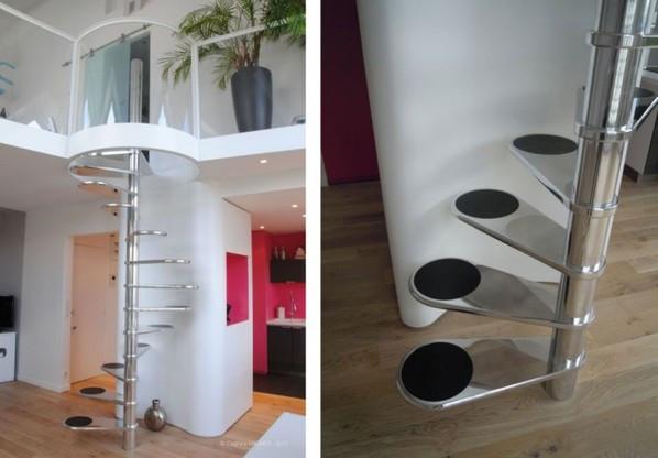 Компактные лестницы в интерьере простой способ