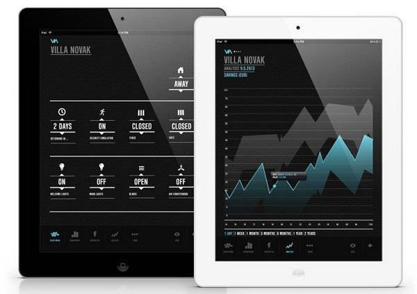 VIA  -  iPad приложение для контроля всего дома