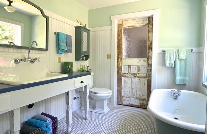 Переделанная веранда в ванную комнату
