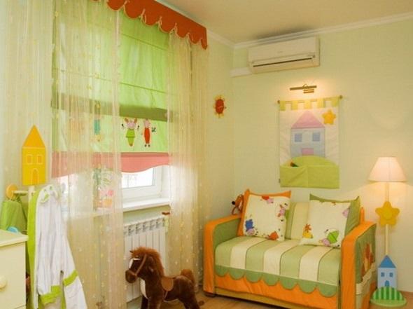 Дизайн окна в детской фото