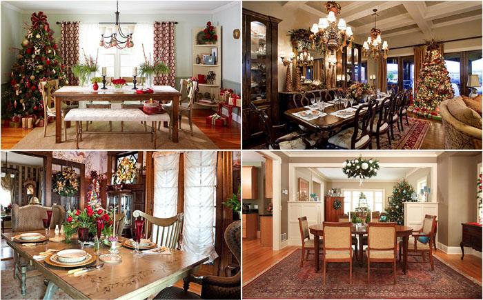 Удивительные идеи новогодних декораций для столовой