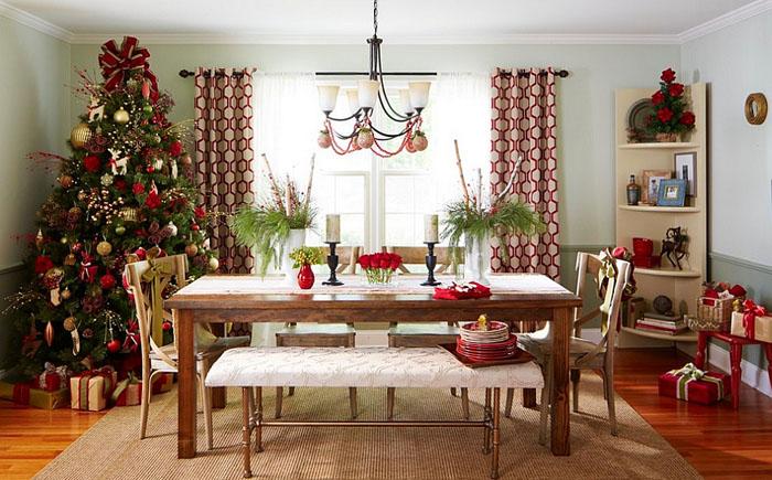Праздничный интерьер столовой от Lowe's Home Improvement