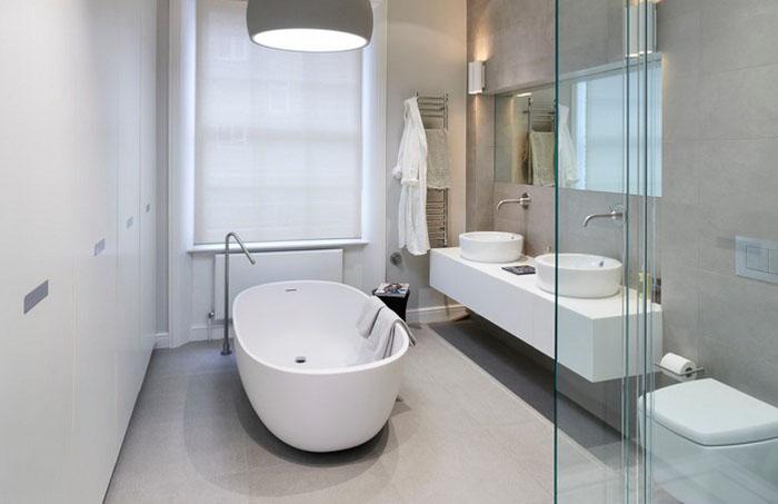 Интерьер ванной в лондонской квартире