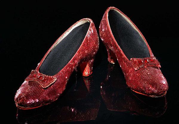 Рубиновые туфли Дороти из фильма «Волшебник Изумрудного города»
