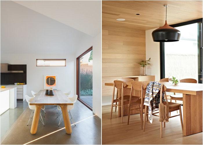 Прямоугольный стол в интерьере