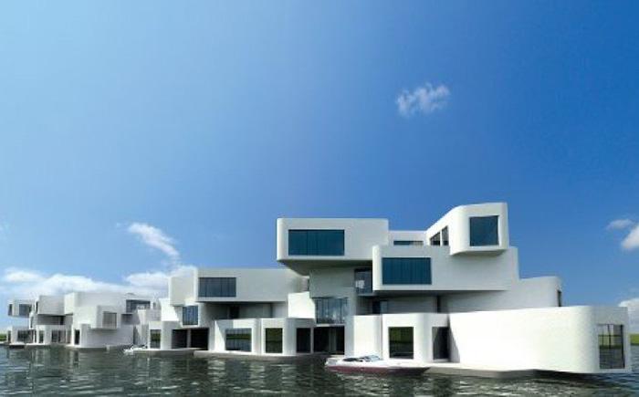 Крепость: плавающий комплекс апартаментов в Нидерландах