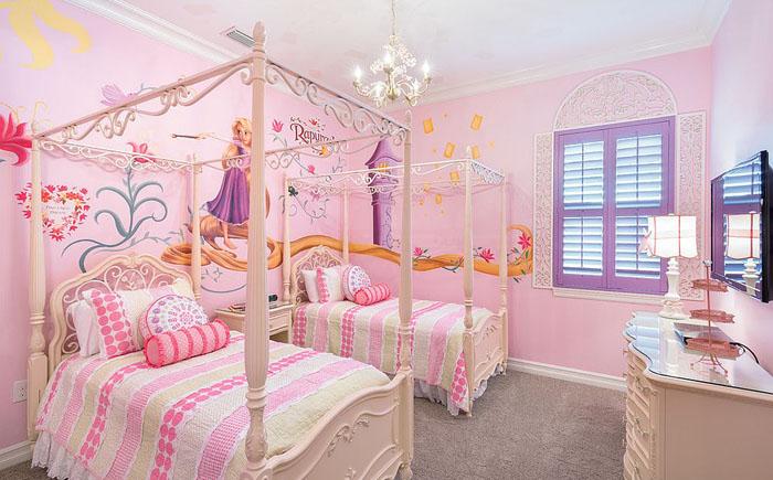 Спальня для современной Рапунцель