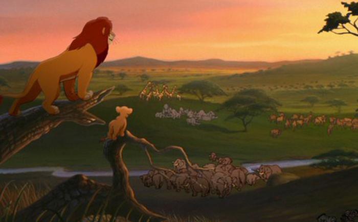 Страна Симбы в мультфильме «Король Лев»