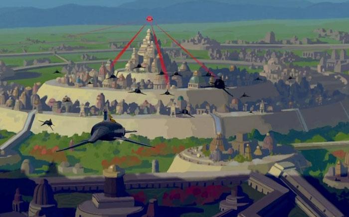 Атлантида из мультфильма «Атлантида: потерянная империя»
