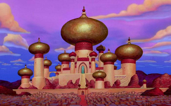 Дворец султана из мультфильма «Аладдин»