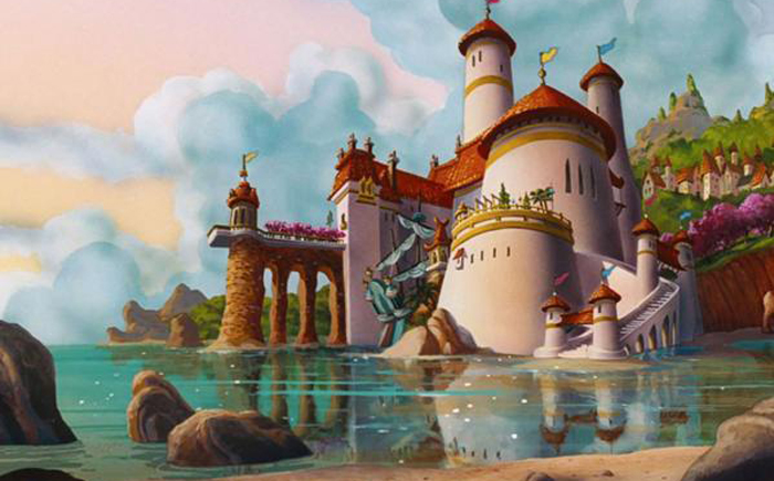 Королевский дворец в «Запутанной истории» / Замок принца Эрика в «Русалочке»