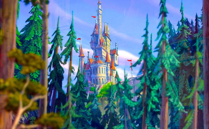 Дворец Чудовища из мультфильма «Красавица и чудовище»
