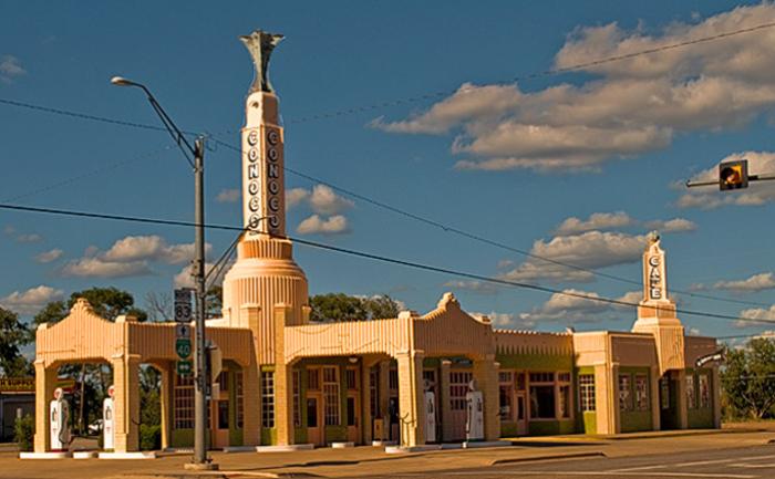 """Заправка """"U-Driop"""" в Шемроке, Техас"""