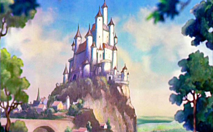 Замок королевы из мультфильма «Белоснежка и семь гномов» и замок  Золушки