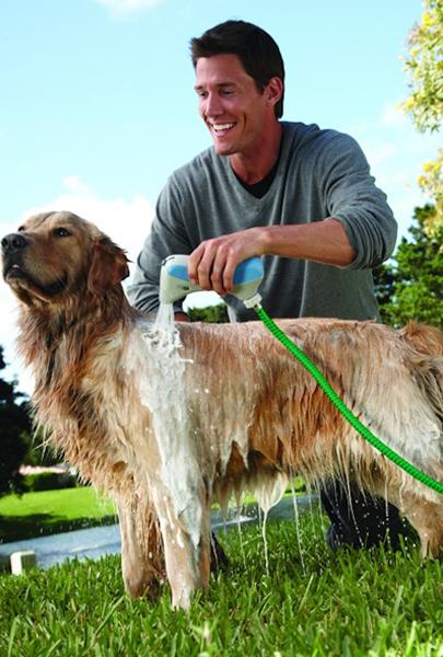 Система быстрого душа для собаки