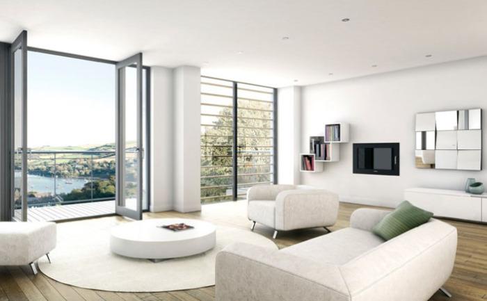 Интерьер гостиной от BBH Architects (Dartmouth) Ltd