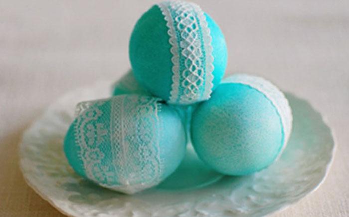 Пасхальные яйца в кружевах