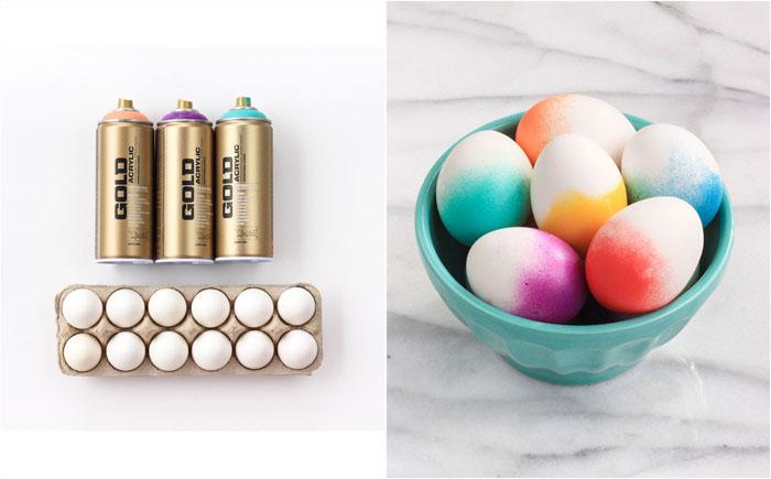 Пасхальные яйца с эффектом деграде