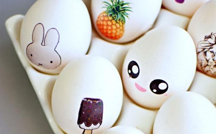 Пасхальные яйца с переводными картинками