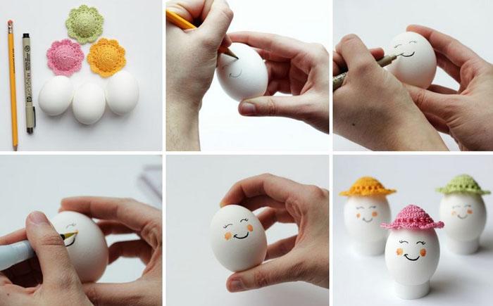 Пасхальные яйца в шляпе