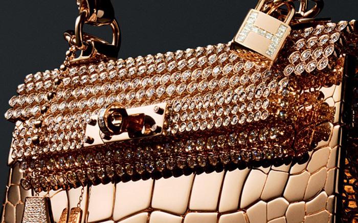 "524a8526cf50 3. Сумка из розового золота и кожи крокодила ""Damond Birkin and Kelly"": 1,9  миллиона долларов"