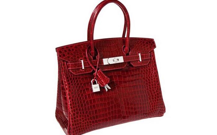 6288261d2748 Красная сумка из кожи крокодила Rouge H Porosus от Exceptional Collection