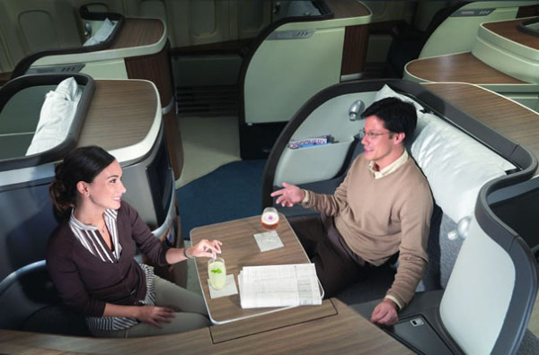 Салон первого класса от Cathay Pacific Airways