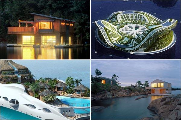 По морям, по волнам: ТОП-10 удивительных домов на воде