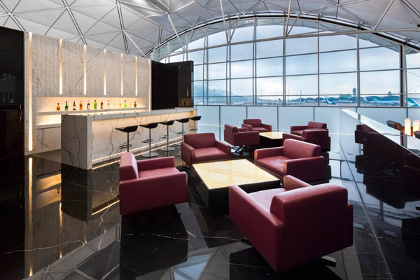Зал ожидания Cathay Pacific, Гонконг