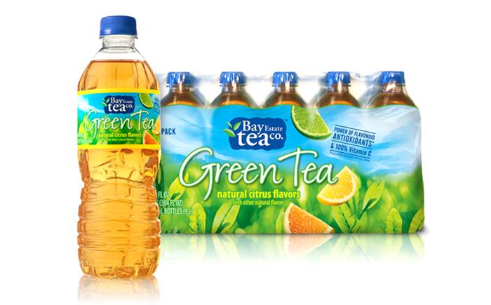 Зеленый чай в бутылках