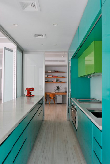 Интерьер кухни от BarlisWedlick Architects, Tribeca Studio