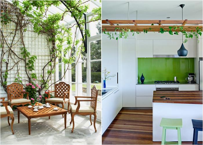 Интерьер в садовом стиле