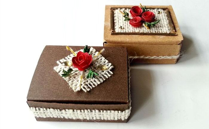 Упаковываем подарки красиво: подарочная коробка в винтажном стиле