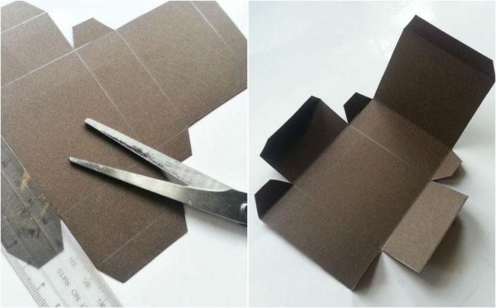 Вырезание коробки по шаблону