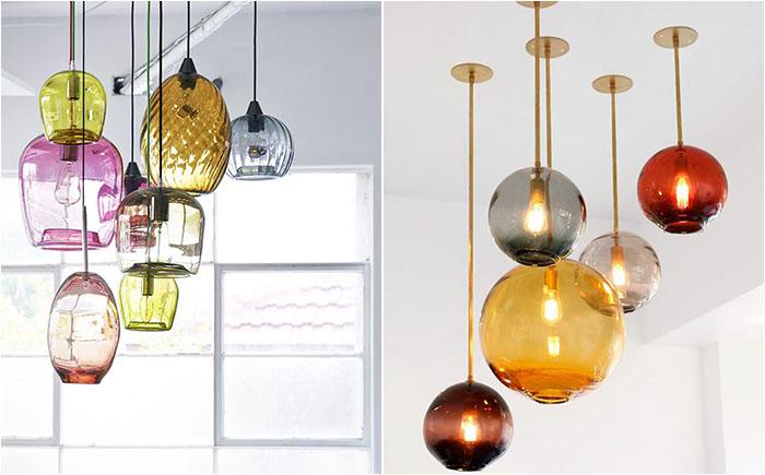 15 дутых стеклянных люстр для современного и стильного интерьера