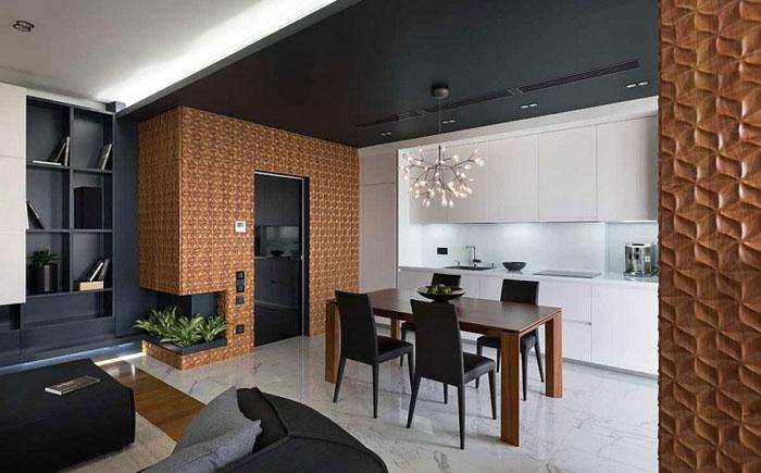 Открытая планировка - столовая и кухня