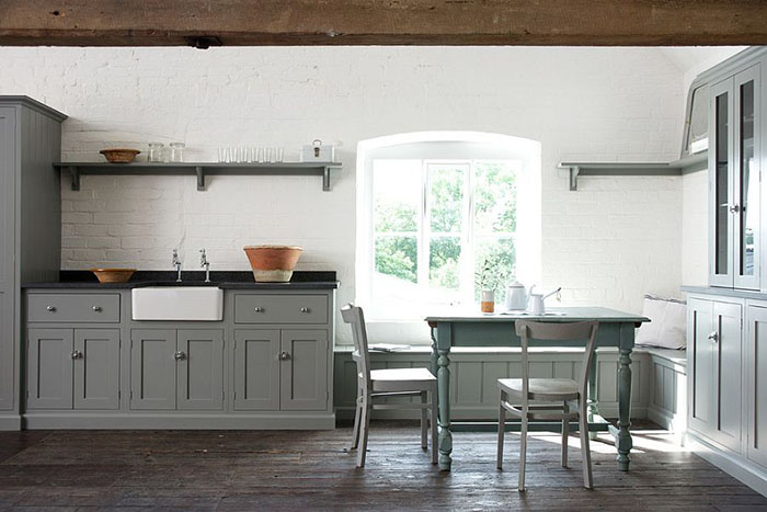 Интерьер кухни серый цвет