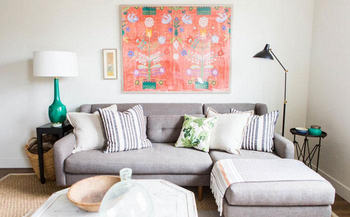Интерьер гостиной от Ashley Winn Design