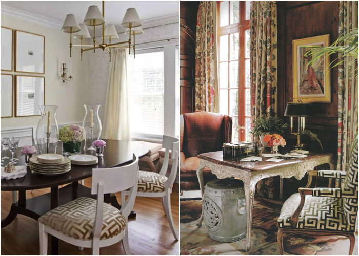 Обивка стульев с греческими мотивами