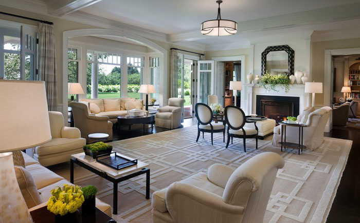 Интерьер гостиной от Douglas C. Wright Architects