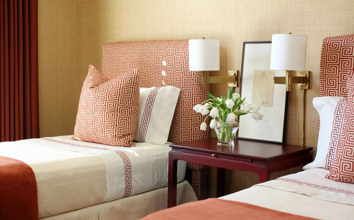 Интерьер спальни от Tobi Fairley Interior Design