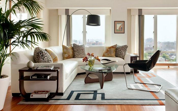 Интерьер гостиной от Eleven Interiors