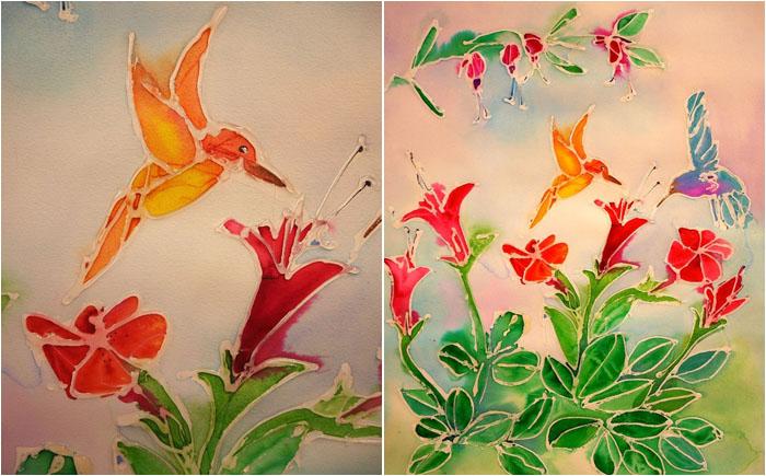 Рисуем с детьми: произведения искусства при помощи клеевого термопистолета